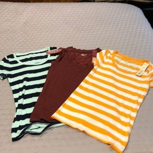 Lot of three Merona new with tag T-shirts